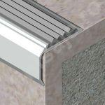 Protectie treapta XLine cu canal din aluminiu eloxat - ATI407