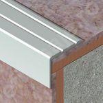 Protectie treapta Prolux cu caneluri din aluminiu eloxat - ATS257