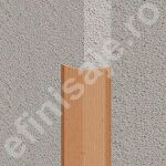 Cornier / coltar Lineco flexibil versatil din PVC finisaj imitatie lemn - LCF257