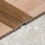 Trecere lisa / prag Lineco din aluminiu sublicromat in nuante lemnoase - LLC407