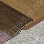 Trecere XLine lisa din aluminiu folio (prag imitatie lemn) - PLF519