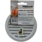 Rama de aerisire Prolux rotunda cu plasa din PVC - RAF100
