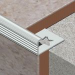 Bagheta Lineco metalica dreapta din aluminiu eloxat - LED105
