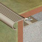 Protectie Lineco pentru trepte ceramice rotunjita din aluminiu eloxat - LRA105