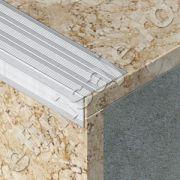 Protectie treapta Lineco ingusta cu rizuri din aluminiu natural - LSA255