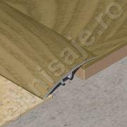 Trecere / prag XLine din aluminiu sublicromat in nuante lemnoase - PLC419