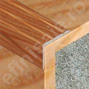 Protectie treapta XLine din aluminiu sublicromat in nuante lemnoase - CTS257