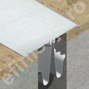 Profil de dilatatie din aluminiu eloxat pentru mascare rost 25-55mm perete / tavan - GOA803