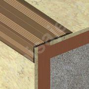 Protectie treapta Lineco ingusta cu rizuri din aluminiu eloxat - LSA255