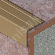 Protectie treapta Prolux cu caneluri din aluminiu eloxat - ATS259