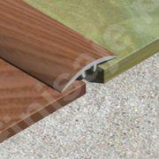 Trecere XLine cu suruburi ascunse din aluminiu sublicromat nuante lemnoase - PLC308