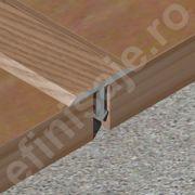 Profil Prolux 'T' din aluminiu sublicromat in nuante lemnoase - TLC209