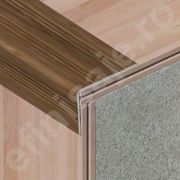 Protectie treapta Lineco din aluminiu sublicromat in nuante lemnoase - LTS327