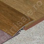 Trecere XLine lisa din aluminiu folio (prag imitatie lemn) - PLF517
