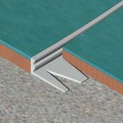 Bagheta Genesis dreapta flexibila din aluminiu natural - EFA120