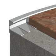 Bagheta Prolux dreapta flexibila din aluminiu natural - MFA107