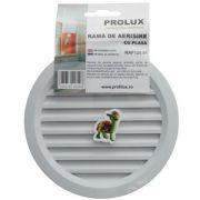 Rama de aerisire Prolux rotunda cu plasa din PVC - RAF120