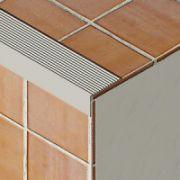 Protectie treapta Prolux cu rizuri din aluminiu eloxat - PSR388
