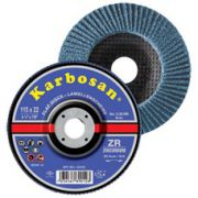 Disc lamelar conic inox / metal 115 x 22 granulatie 120