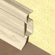 Plinta PVC Prolux pentru cabluri 50 x 22 mm culoare fag inchis - PBC505