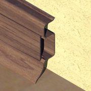 Plinta PVC Prolux pentru cabluri 50 x 22 mm culoare wenge - PBC505