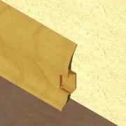 Plinta PVC Lineco pentru cabluri 60 x 20 mm culoare stejar auriu - PBC605
