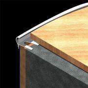 Protectie treapta Prolux rotunjita flexibila din aluminiu eloxat - AFR117