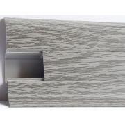 Plinta PVC Lineco pentru cabluri 60 x 20 mm culoare stejar cenusa - PBC605