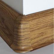 Set 4 buc. piese Lineco imbinare colt exterior culoare stejar miere pentru plinta parchet PBC605 - PBE605. 407-S4