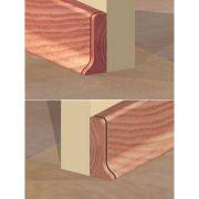 Set 4 buc. piese Prolux inchidere plinta (2 buc. dreapta + 2 buc. stanga) culoare cires pentru plinta parchet PBC505 - PBDS505. 152