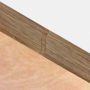 Set 4 buc. piese Lineco imbinare mijloc culoare stejar country pentru plinta parchet PBC605 - PBL605. 128-S4