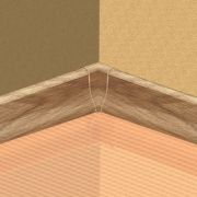 Set 4 buc. piese Lineco imbinare colt interior culoare stejar nordic pentru plinta parchet PBC605 - PBY605. 126-S4