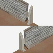 Set 4 buc. piese Lineco inchidere plinta (2 buc. dreapta + 2 buc. stanga) culoare gri lemnos pentru plinta parchet PBC605 -PBDS605. 211