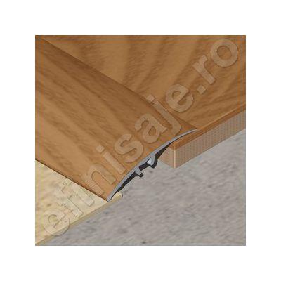 Trecere / prag XLine din aluminiu sublicromat in nuante lemnoase - PLC418
