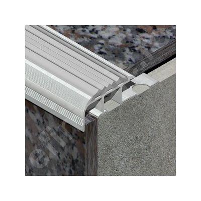 Protectie treapta XLine cu canal din aluminiu eloxat - AIC107
