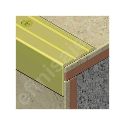 Protectie treapta Prolux perforata cu caneluri din aluminiu eloxat - ATP257