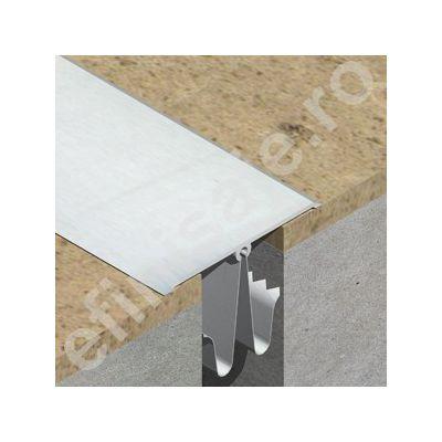 Profil de dilatatie din aluminiu eloxat pentru mascare rost 20-40mm perete / tavan - GOA603