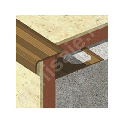 Protectie Lineco pentru trepte ceramice dreapta din aluminiu eloxat - LDA125