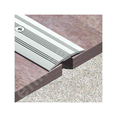 Trecere Prolux ingusta arcuita cu striatii din aluminiu eloxat - PSG317