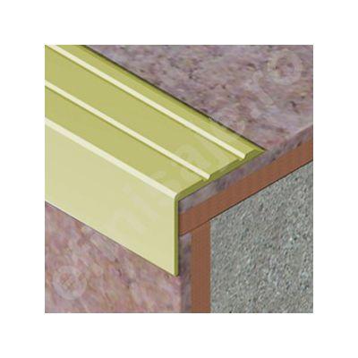 Protectie treapta Prolux cu caneluri din aluminiu eloxat - ATS258