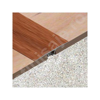 Trecere lisa / prag Lineco din aluminiu sublicromat in nuante lemnoase - LLC409