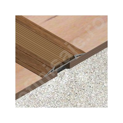 Trecere/ prag Lineco din aluminiu sublicromat cu insertie din PVC cauciucat - LTI407