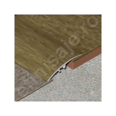 Trecere / prag Prolux lata lisa din aluminiu folio imitatie lemn - PLF417