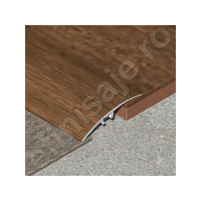 Trecere / prag Prolux lata lisa din aluminiu folio imitatie lemn - PLF419