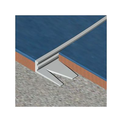 Bagheta Genesis dreapta flexibila din aluminiu natural - EFA080