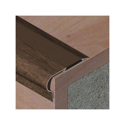 Protectie treapta Prolux din aluminiu sublicromat cu insertie de PVC cauciucat - PTS535