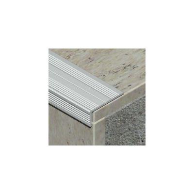 Protectie treapta Prolux ingusta cu rizuri din aluminiu eloxat - ASR257