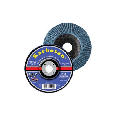 Disc lamelar conic inox / metal 115 x 22 granulatie 40