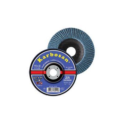 Disc lamelar frontal metal / inox 125 x 22 granulatie 120
