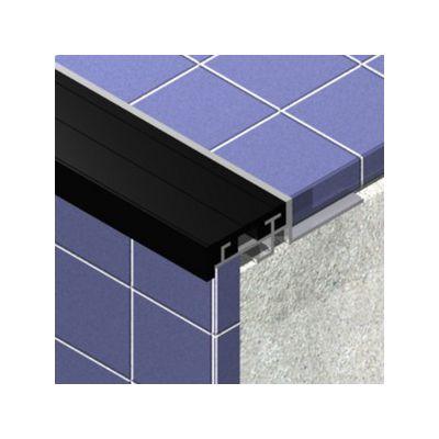 Protectie treapta Prolux din aluminiu eloxat cu insertie - PTIL485